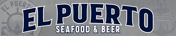 El Puerto · Seafood & Beer · By The Park Logo